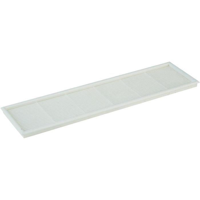 Grille de ventilation 240 x 60 blanche achat vente for Grille de ventilation pour porte