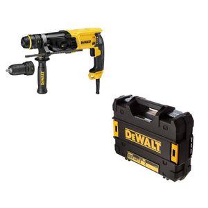DEWALT Perforateur burineur SDS Plus D25134K 800 W avec coffret de transport Tstak et mandrin interchangeable 13 mm