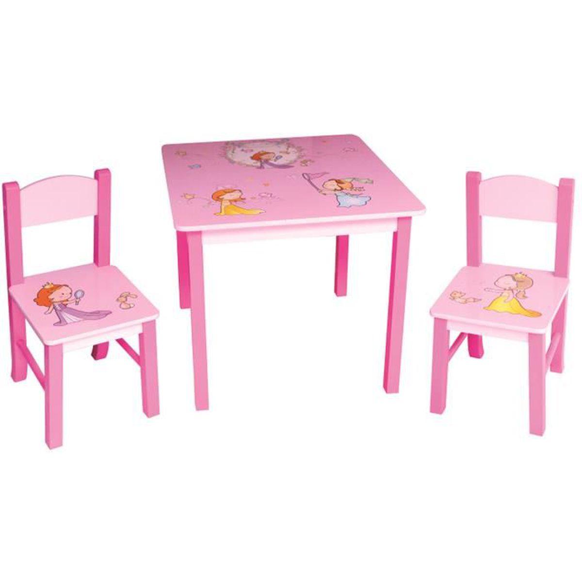 Ensemble table et 2 chaises en bois princess meilleures for Table et 2 chaises