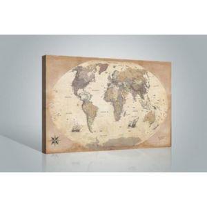 Tableau carte du monde achat vente tableau carte du for Poster sur toile