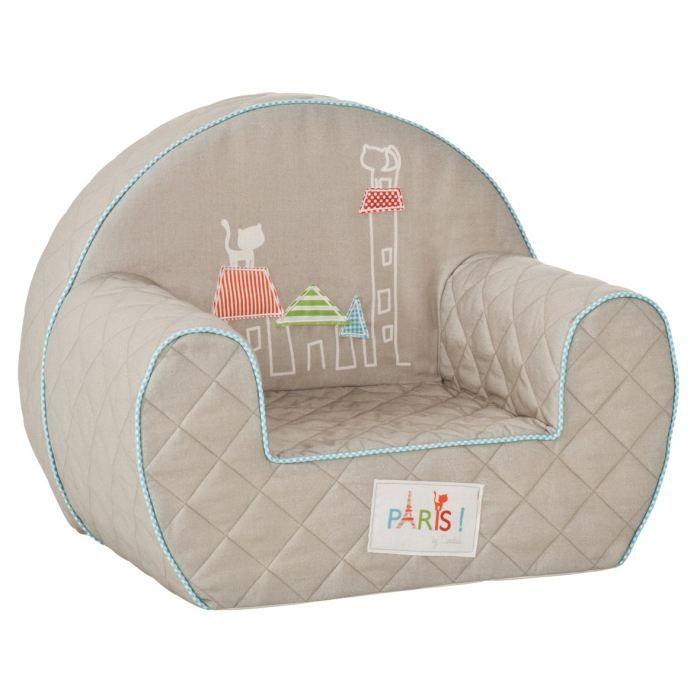 candide fauteuil club d houssable paris gris achat vente fauteuil canap b b candide. Black Bedroom Furniture Sets. Home Design Ideas