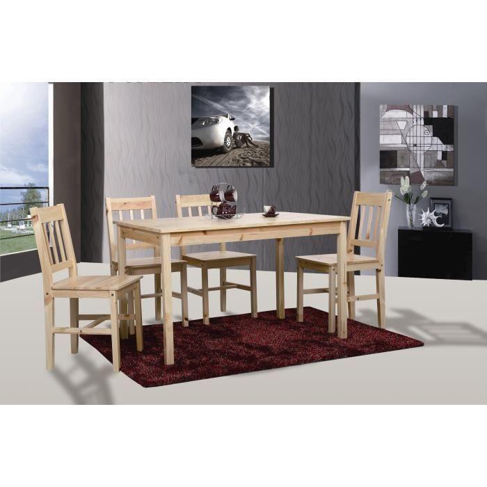 Table de cuisine salle manger 4 chaises bastia achat for Chaise de salle a manger par 4