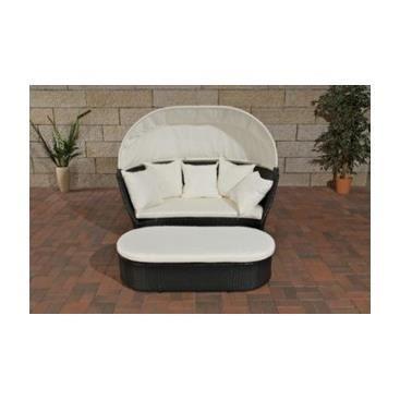 Canap lounge de jardin design graziano noir achat vente fauteuil jar - Canape jardin design ...