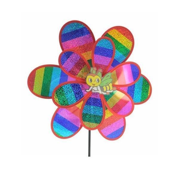 Moulin vent double fleur brillante achat vente for Moulin a vent decoration jardin