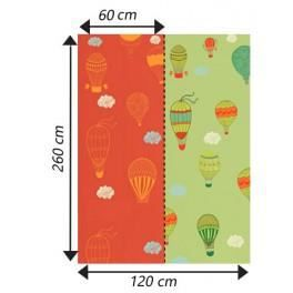 deco soon papier peint montgolfi res color es achat vente papier peint cdiscount. Black Bedroom Furniture Sets. Home Design Ideas
