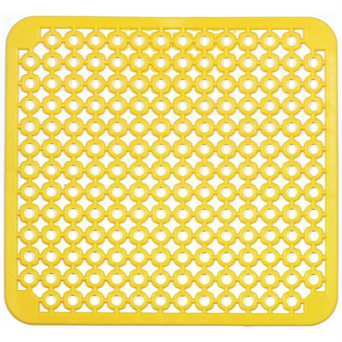 Tapis cuisine fond d 39 evier jaune 30x30cm 100 pvc Tapis pvc cuisine