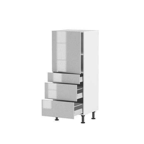 Meuble 1 2 colonne 140 60cm 1 porte 3 tiroirs p achat vente l ments col - Peindre un meuble en panneau de particules ...