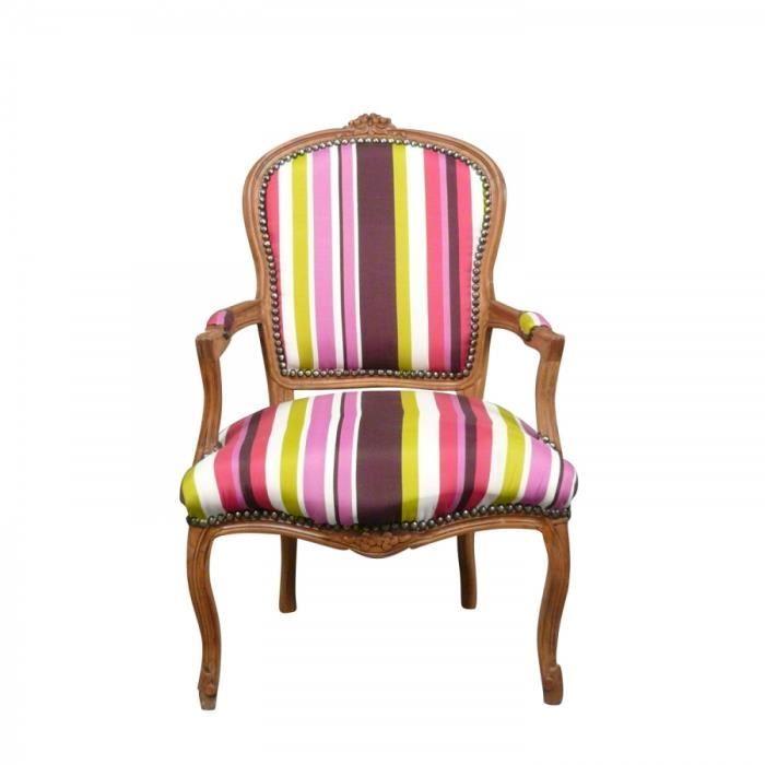 Fauteuil Louis Xv Design HomeEzy - Fauteuil multicolore design