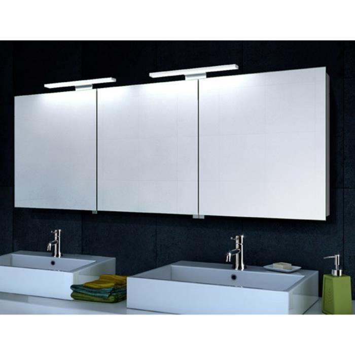 Armoire de toilette avec clairage led et le cadre en aluminium 160x60cm achat vente armoire - Eclairage pour armoire de toilette ...