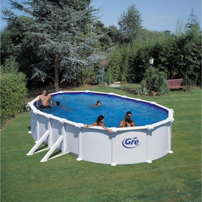 Piscine gre d610x375 h132 acier hors sol ovale achat vente kit piscine piscine gre for Achat piscine acier