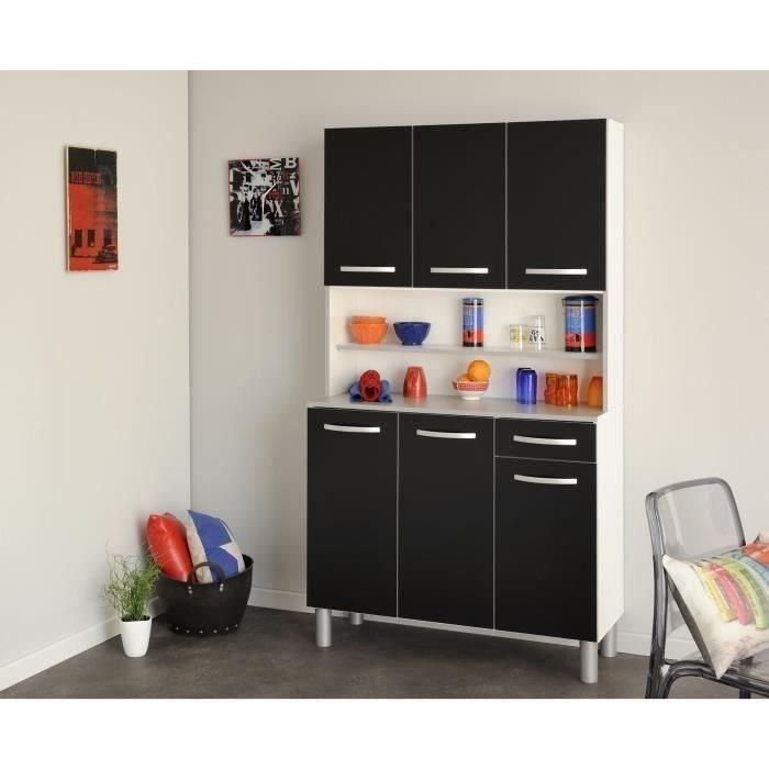 harmony buffet de cuisine l 101cm noir mat achat vente buffet de cuisine harmony buffet. Black Bedroom Furniture Sets. Home Design Ideas