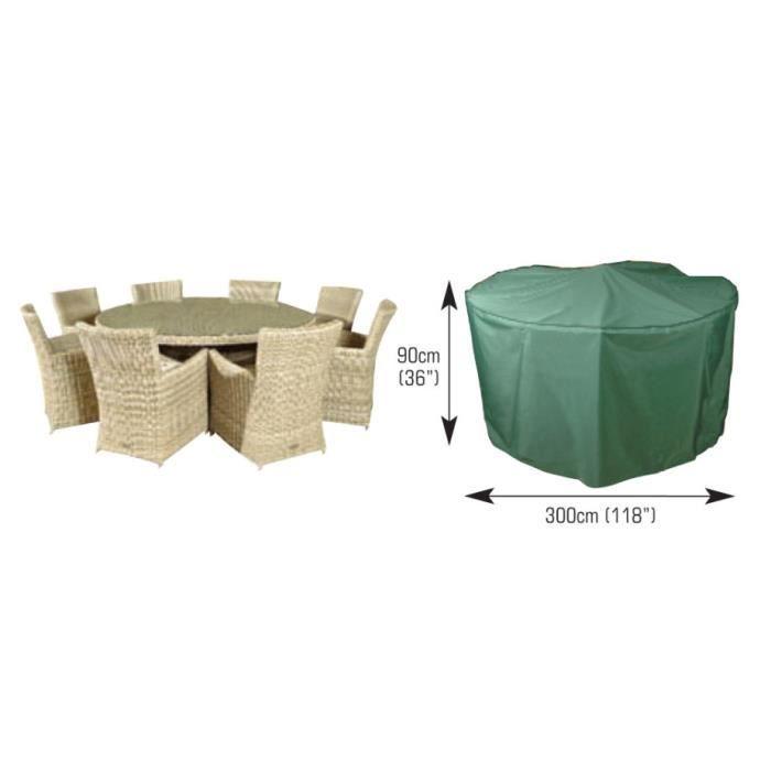 Housse pour salon de jardin rond 8 10 places confort 300cm achat vente housse meuble jardin - Bache pour salon de jardin rond ...