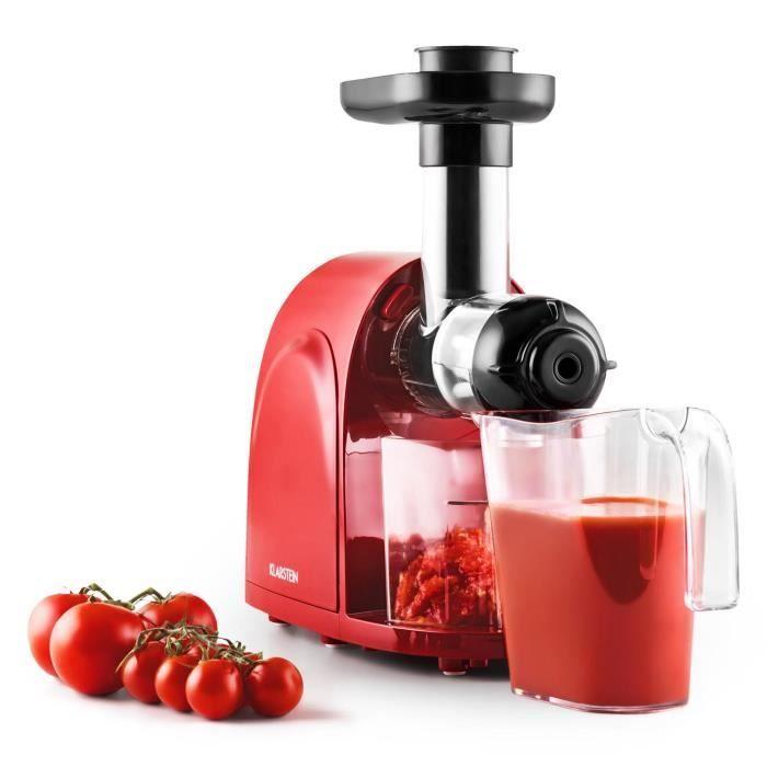 Klarstein Fruit Berry Slow Juicer : Klarstein Slowjuicer - Centrifugeuse Slow Juicer pour jus de fruit frais (150W, 80 tours/min ...