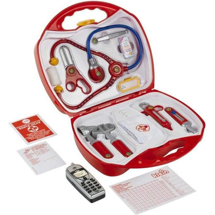 Klein mallette docteur avec t l phone portable achat vente docteur v t rinaire cdiscount - Docteur la peluche malette ...