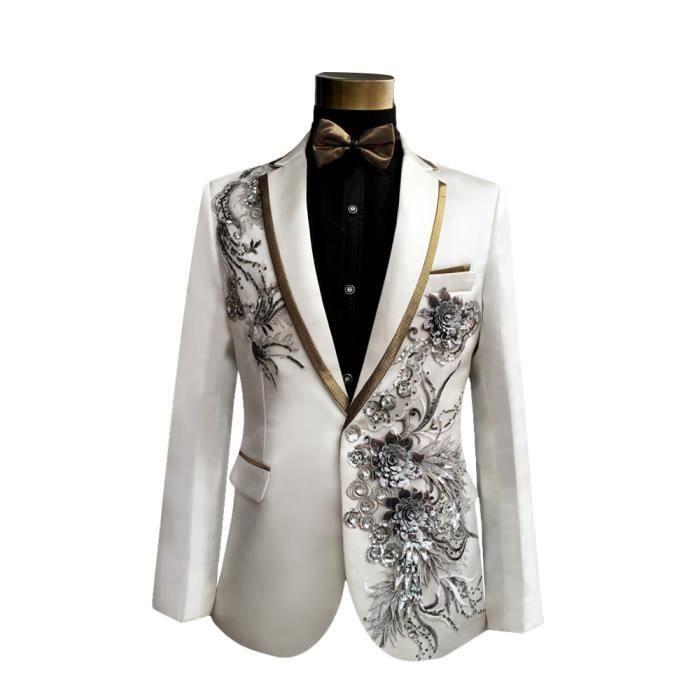smoking hommes veste et pantalon homme costumes nouvelle arrivee fleurs d 39 argent blanc. Black Bedroom Furniture Sets. Home Design Ideas