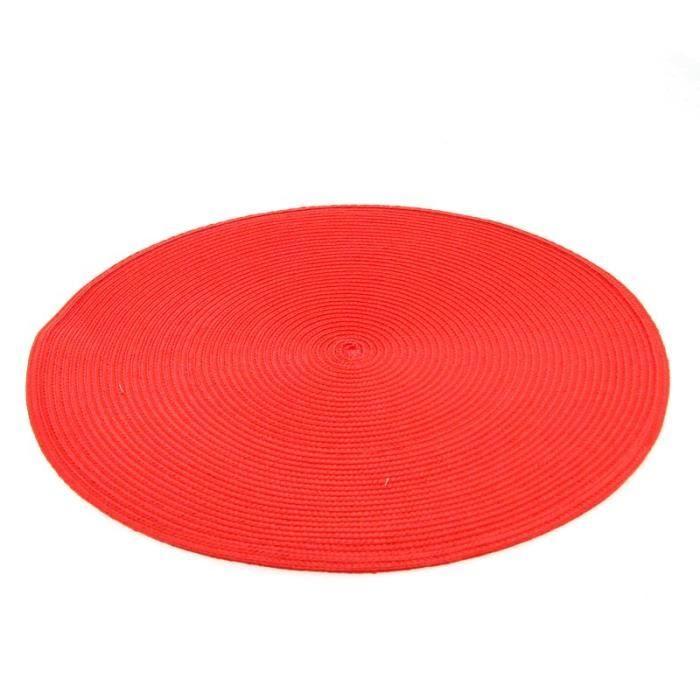 Set de table rond 38cm rouge paris prix achat vente for Achat poisson rouge paris 15