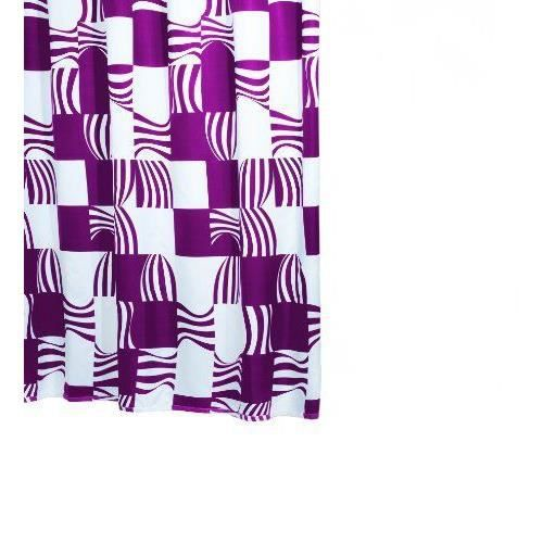 Ridder swing 423710 350 rideau de douche textile avec oeillets 180 x 200 cm mauve achat - Rideau de douche textile ...