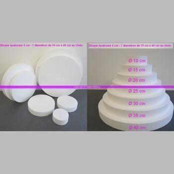 disque polystyr ne paisseur 4 cm 7 diam au choix pro. Black Bedroom Furniture Sets. Home Design Ideas
