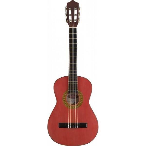 guitare enfant 1 4 classique rouge pas cher achat. Black Bedroom Furniture Sets. Home Design Ideas