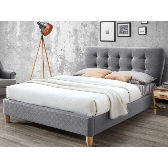lit 140 190 tete du lit tissu achat vente lit 140 190. Black Bedroom Furniture Sets. Home Design Ideas