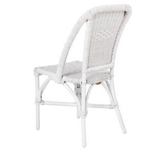 Chaise rotin blanc achat vente chaise rotin blanc pas - Chaise laquee blanche ...