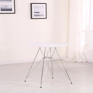 Table tulipe blanche achat vente table tulipe blanche for Table a manger ronde blanche