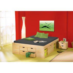 Structure de lit achat vente structure de lit pas cher - Lit 2 personnes avec sommier ...