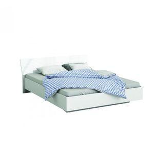 cadre lit 140x190 blanc achat vente cadre lit 140x190 blanc pas cher cdiscount. Black Bedroom Furniture Sets. Home Design Ideas