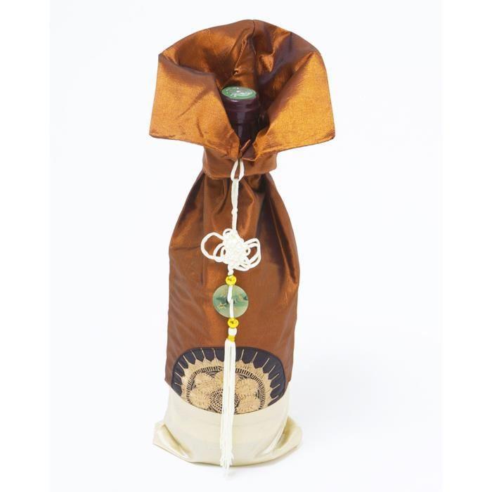 bouteille de vin sac cadeau couleur brun achat vente cache bouteille bouteille de vin sac. Black Bedroom Furniture Sets. Home Design Ideas