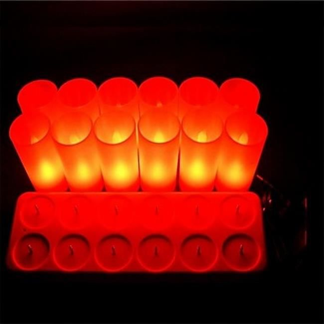 12 bougies sans flamme tu achat vente 12 bougies sans. Black Bedroom Furniture Sets. Home Design Ideas