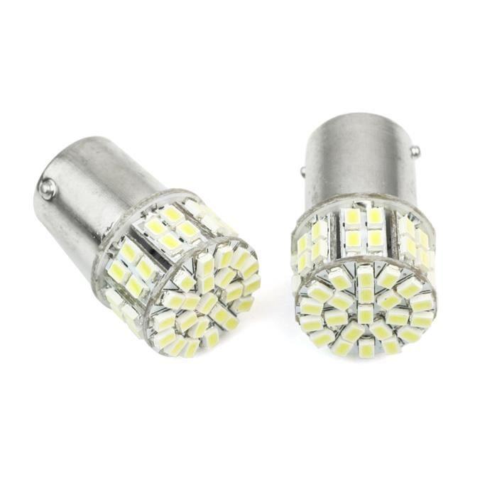 1156 50 smd led blanc feux lampe ampoule spot voiture v hicule 12v 12w 300lm achat vente. Black Bedroom Furniture Sets. Home Design Ideas