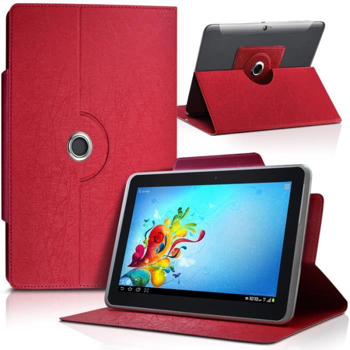 Housse etui universel l couleur rouge pour tablette archos for Housse archos 101