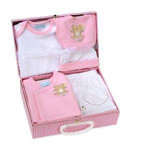 cadeau naissance valise de b b 6 mois rose achat vente coffret cadeau textile la valise de. Black Bedroom Furniture Sets. Home Design Ideas