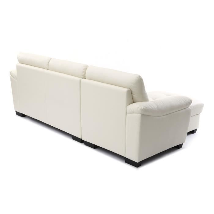 miliboo canap d 39 angle cuir design blanc moun achat vente canap sofa divan cuir pvc. Black Bedroom Furniture Sets. Home Design Ideas