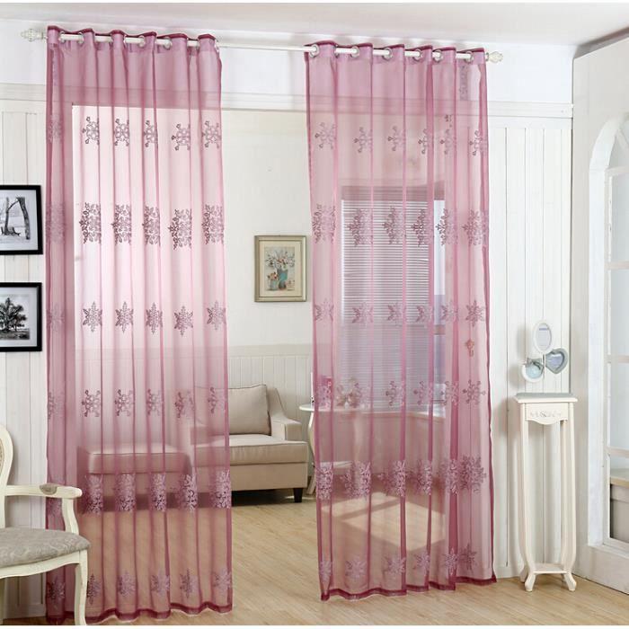 Tulle rouge rideaux de fen tre largeur de 1 5 m par 2 8 m for Largeur fenetre