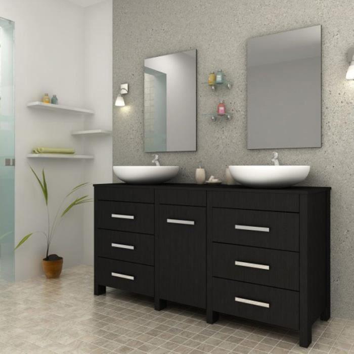 Ensemble meuble de salle de bain sensa noir paris prix for Meuble de salle de bain paris