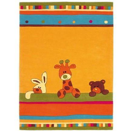 tapis enfant tapis animaux jaune 100x160 achat vente tapis cdiscount. Black Bedroom Furniture Sets. Home Design Ideas