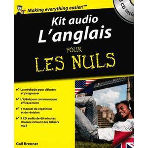 LIVRE ANGLAIS Kit audio l'anglais pour les nuls