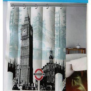 Rideau de douche motif achat vente rideau de douche motif pas cher cdiscount - Rideau de douche 180x180 ...