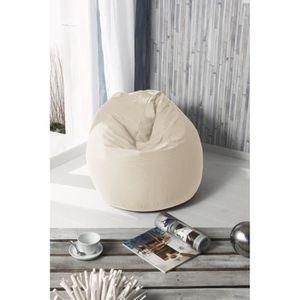 Fun poire pouf 100 coton 79x100 cm beige achat vente pouf poire 100 c - Pouf en forme de poire ...