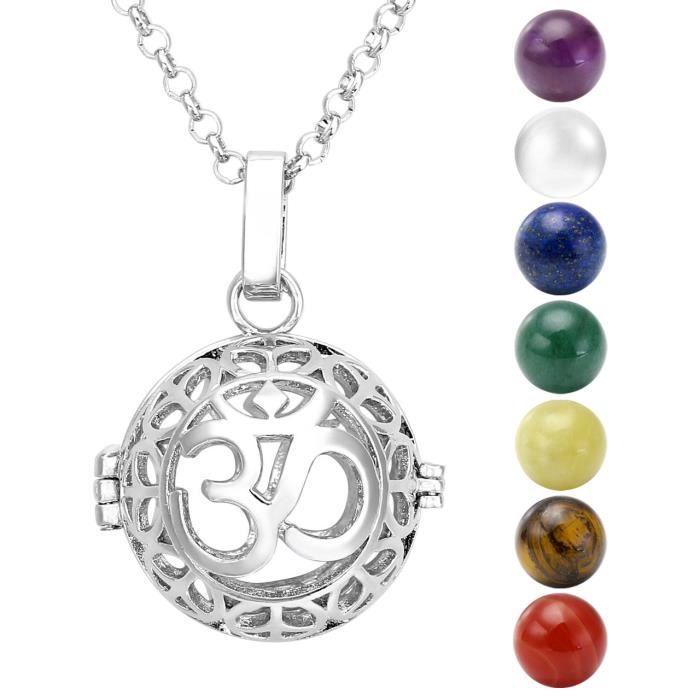 bijouterie colliers et sautoirs bola de grossesse platineom symbole  pierres natu f auc