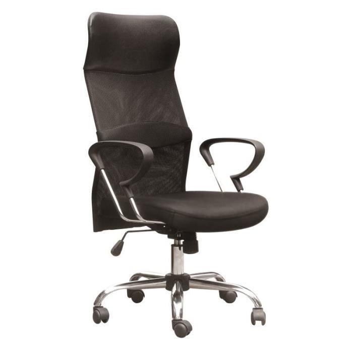 fauteuil de bureau pied chrome dos maille achat vente chaise de bureau cdiscount