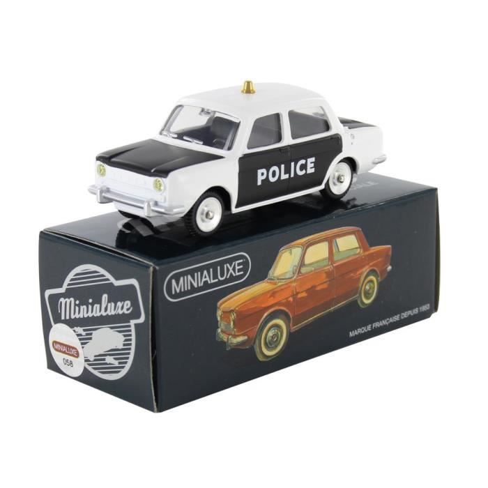 simca 1000 police minialuxe voiture miniatures achat. Black Bedroom Furniture Sets. Home Design Ideas