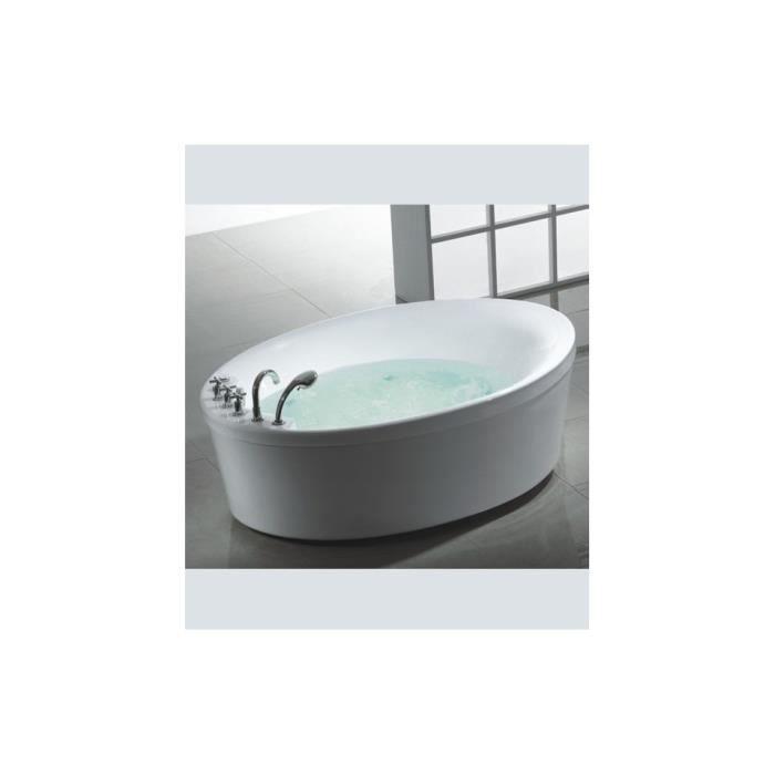 Baignoire lot balneo ovale pa achat vente baignoire baln o baignoire - Petite baignoire balneo ...