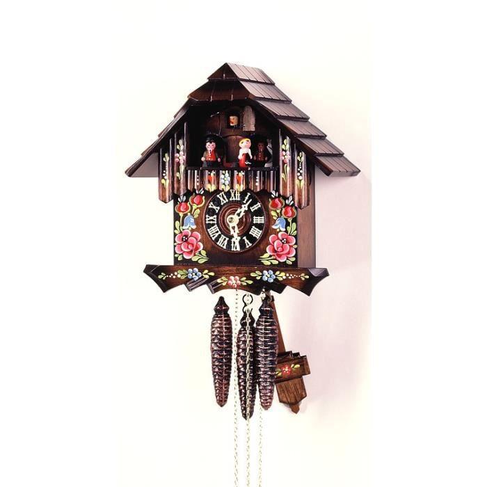 pendule coucou maison de la for t noire fleurs achat. Black Bedroom Furniture Sets. Home Design Ideas