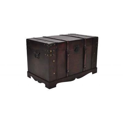 coffre en bois brun type pirate exotique petit achat vente coffre en bois brun type pi. Black Bedroom Furniture Sets. Home Design Ideas