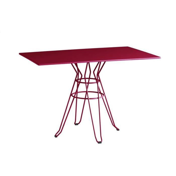 Table de jardin design rectangle 110x70 alameda couleur bordeaux achat vente table de jardin - Table jardin bricorama bordeaux ...