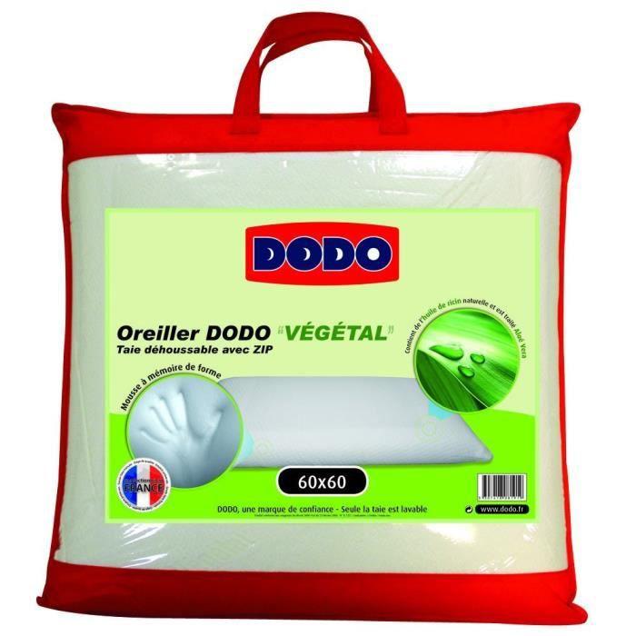 Couleur blanccomposition bloc de mousse m moire de forme mousse visco el - Oreiller dodo vegetal 60x60 ...
