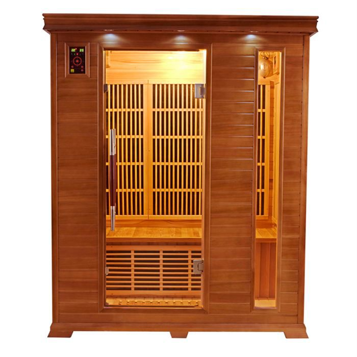 Sauna infrarouge luxe 3 3 places achat vente kit sauna sauna infrarouge - Sauna infrarouge 3 places ...