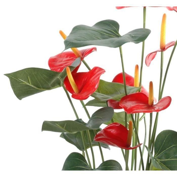 Plante artificielles anthurium 75cm achat vente fleur artificielle cdis - Plantes artificielles discount ...